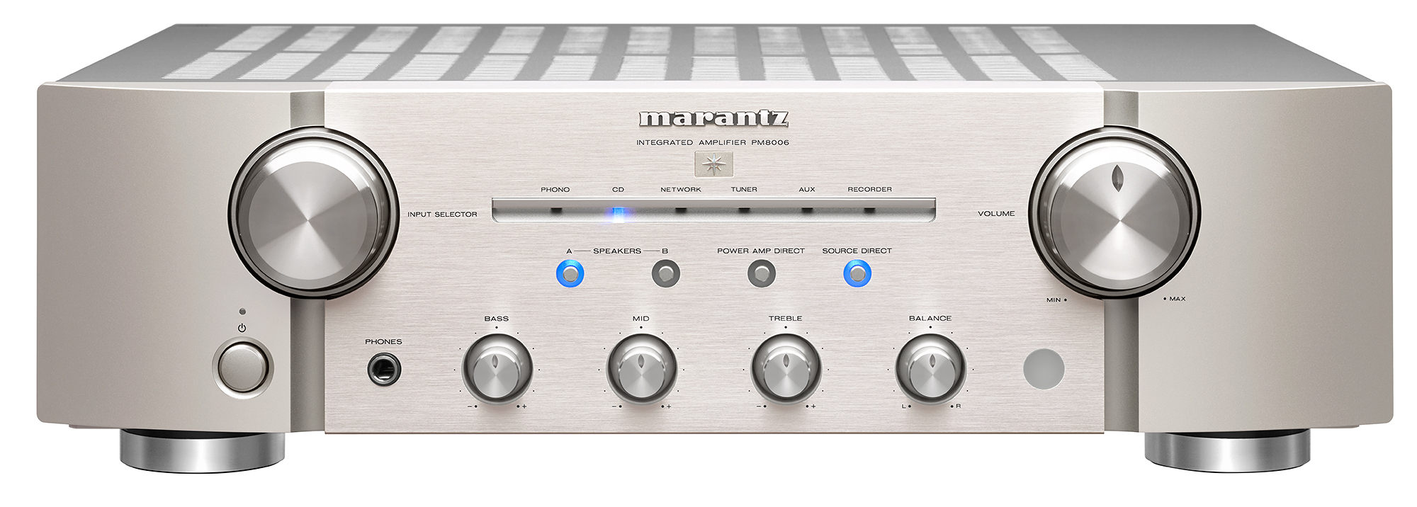 Marantz Uk Pm8006 Active Microphone Preamplifier Using Lf356 With A Fully Discrete Current Feedback Design The Integrated Amplifier Is Perfect For Audiophiles Wanting Both Excellent Music Quality And Flexible